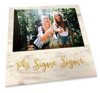 Phi Sigma Sigma Sorority Golden Block Frame