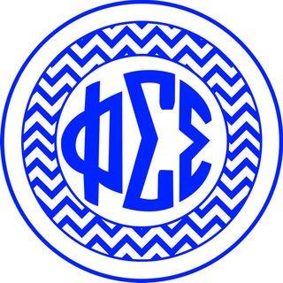 Phi Sigma Sigma Sorority Monogram Bumper Sticker