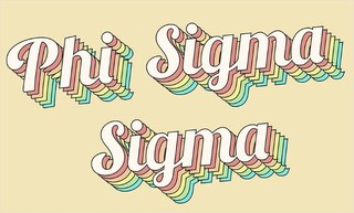 Phi Sigma Sigma Sorority Retro Flag