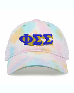 Phi Sigma Sigma Sorority Sorbet Tie Dyed Twill Hat