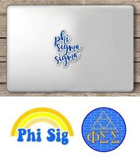 Phi Sigma Sigma Sorority Sticker Collection - SAVE!