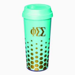 Phi Sigma Sigma Sparkle Coffee Tumblers