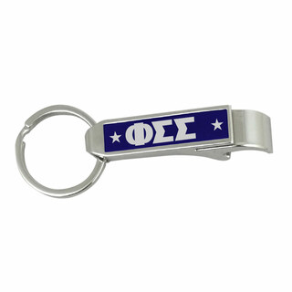 Phi Sigma Sigma Stainless Steel Bottle Opener Key Chain