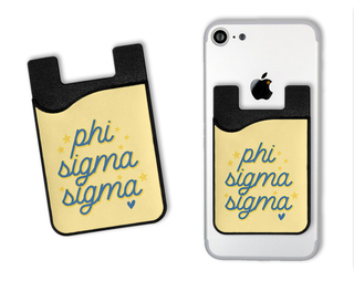 Phi Sigma Sigma Star Card Caddy