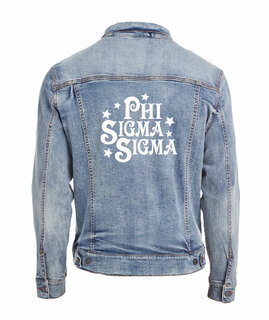 Phi Sigma Sigma Star Struck Denim Jacket