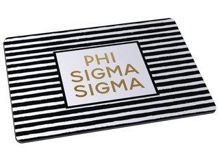 Phi Sigma Sigma Striped Mousepad