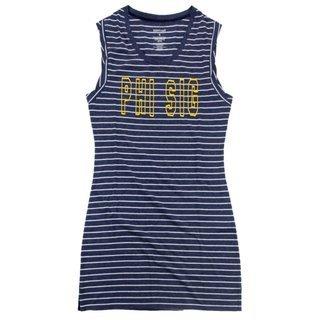 Phi Sigma Sigma Striped Tee Dress