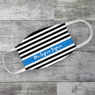 Phi Sigma Sigma Stripes Face Mask