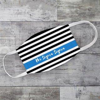 Phi Sigma Sigma Stripes Face Mask
