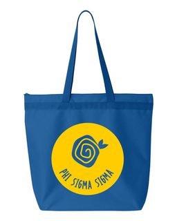 Phi Sigma Sigma Symbol Circle Mascot Tote Bag