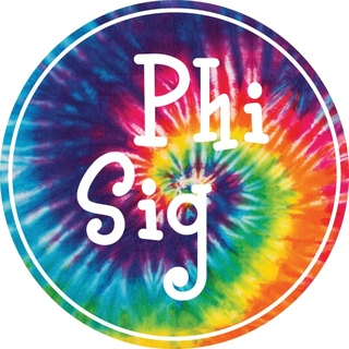 Phi Sigma Sigma Tie-Dye Circle Sticker