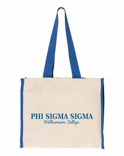 Phi Sigma Sigma Tote with Contrast-Color Handles