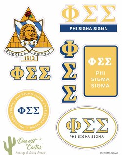 Phi Sigma Sigma Traditional Sticker Sheet