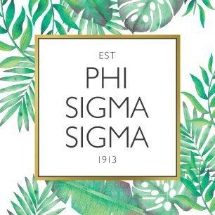 Phi Sigma Sigma Tropical Sticker Decal