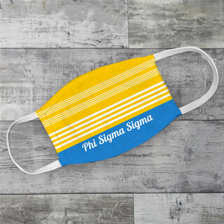 Phi Sigma Sigma Two Tone Stripes Face Mask