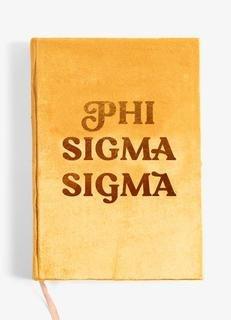 Phi Sigma Sigma Velvet Notebook