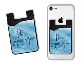 Phi Sigma Sigma Watercolor Caddy Phone Wallet