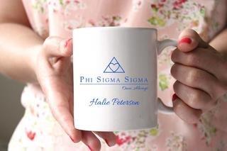 Phi Sigma Sigma White Mascot Coffee Mug