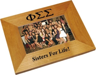 Phi Sigma Sigma Wood Picture Frame