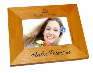 Phi Sigma Sigma Mascot Wood Picture Frame