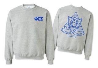Phi Sigma Sigma World Famous Crest - Shield Crewneck Sweatshirt- $25!