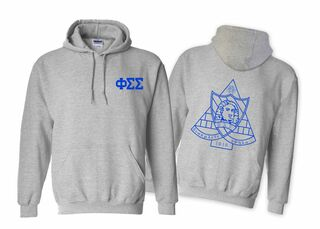 Phi Sigma Sigma World Famous Crest - Shield Hooded Sweatshirt- $35!