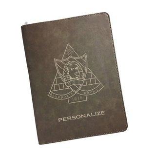 Phi Sigma Sigma Zipper Leatherette Portfolio with Notepad