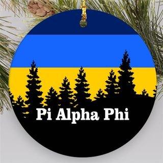 Pi Alpha Phi Christmas Mountains  Round Ornaments