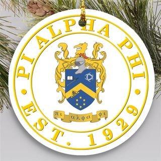 Pi Alpha Phi Circle Crest Round Ornaments