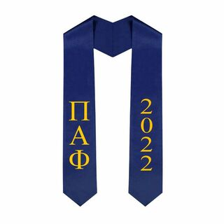 Pi Alpha Phi Greek Lettered Graduation Sash Stole With Year - Best Value
