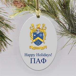 Pi Alpha Phi Holiday Color Crest - Shield Ornament