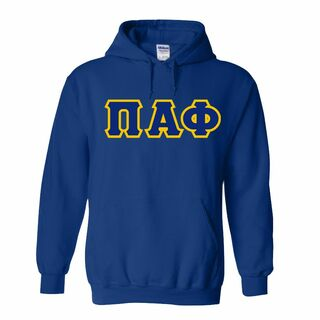 Pi Alpha Phi Lettered Hooded Sweatshirts