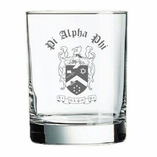 Pi Alpha Phi Old Style Glass