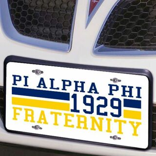 Pi Alpha Phi Year License Plate Cover