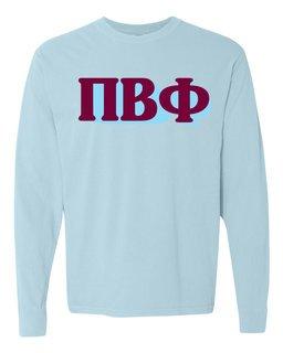 Pi Beta Phi 3 D Greek Long Sleeve T-Shirt - Comfort Colors