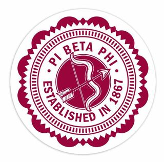 "Pi Beta Phi 5"" Sorority Seal Bumper Sticker"
