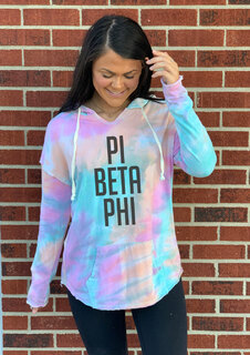 Pi Beta Phi Angel Terry Rainbow Sherbet Nora Pullover