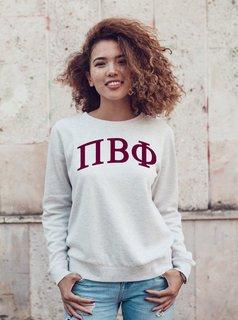 Pi Beta Phi Arched Greek Lettered Crewneck Sweatshirt