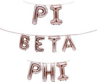Pi Beta Phi Banner Balloon Set