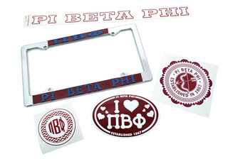 Pi Beta Phi Car & Sticker Collection