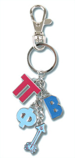 Pi Beta Phi Charm Key Chains