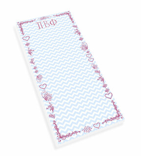 Pi Beta Phi Chevron Long Notepad