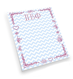 Pi Beta Phi Chevron Notepad