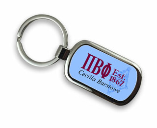 Pi Beta Phi Chrome Crest - Shield Key Chain