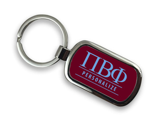 Pi Beta Phi Chrome Custom Keychain