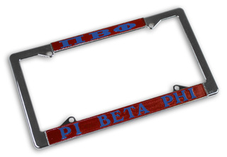 Pi Beta Phi Chrome License Plate Frames