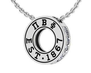Pi Beta Phi Circle Established Charm Necklace - ON SALE!