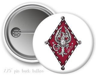 Pi Beta Phi Color Crest - Shield Button