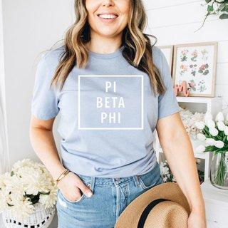 Pi Beta Phi Comfort Colors Box Tee