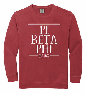 Pi Beta Phi Comfort Colors Custom Crewneck Sweatshirt